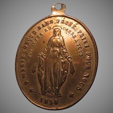 Large Virgin Mary French Miraculous Medal