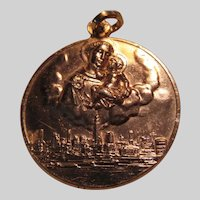 St Anthony Franciscan Fathers NY  Large Medal