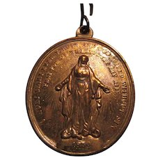 Very Large Virgin Mary Miraculous Medal