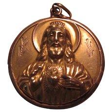 Very Large Gold Jesus Sacred Heart Our Lady San Juan de Los Lagos