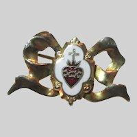 Sacred Heart Medal Pin