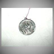 Sterling Silver St Joseph Medal