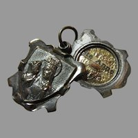 St Anne Reliquary Slider Medal Ste Anne de Beaupre Basilica