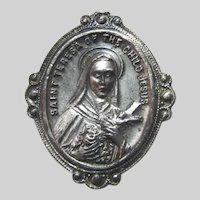 St Therese Lisieux Old Medal Pin