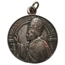 Rare 1929 Pope Pius XI Jubilee Medal Sacerdotal Anniversary Fine Catholic Papal Celebration Medal