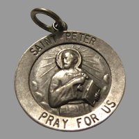 Sterling Silver St Peter Medal