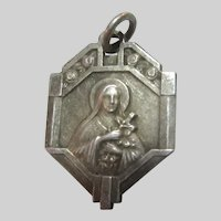 St Teresa Lisieux Old French Medal