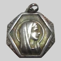 Virgin Mary Our Lady Lourdes 1958 Centennial  French Medal