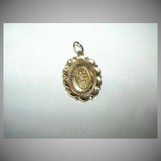 14K Gold St Christopher Medal