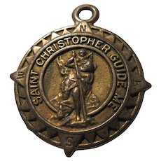 Old St Christopher Large Medal Travel Protection