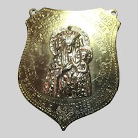 Virgin Mary Our Lady Of Czestoshowa Large Medallion 1966
