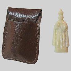 Old Pocket Icon Jesus Infant of Prague In Case