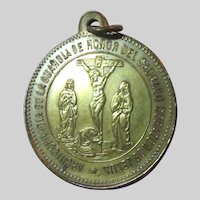Decotion to the Sacred Heart of Jesus Old Medal