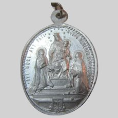 Virgin Mary Our Lady of the Rosary St Dominic St John of the Cross  Medal