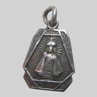 Jesus Infant Of Prague Sterling Silver Medal
