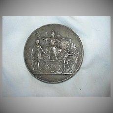 1921 Bronze Medal Paris Alliance Syndicale Du Commerce Fine Metalwork