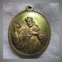St Louis & St Francis French Large Medal