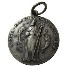 St Eansvida Eanswythe 1930 Catholic and Anglican Medal Mary