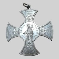 St Odilla and St Anthony Large Medal Blind Afflicted Patron