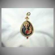 Madonna & Child Art Virgin Mary & Infant Jesus Medallion