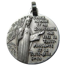 Virgin Mary Immaculate Heart Unusual Medal
