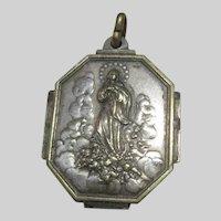 Virgin Mary Assumption Annunciation Old Medal Marcellin Champagnat