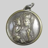 St Anne Virgin Mary St Christopher Signed Old French Medal