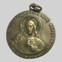 Jesus Sacred Heart Virgin Mary Our Lady Mt Carmel Scapular Medal
