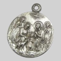 Virgin Mary Our Lady of Fatima Holy Family Nativity Medal