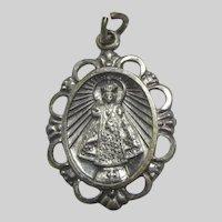 Jesus Infant of Prague Sacred Heart Medal