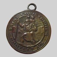 Old St Christopher Medal San Juan Capistrano