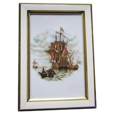 Sailing Ship Handerbeit Germany Framed Tile