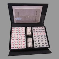 Mahjong Mah Jongg Set 1960's 144 Tiles 80 Bars In Case