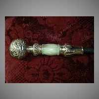 Antique Cane Handle Fine Metalwork