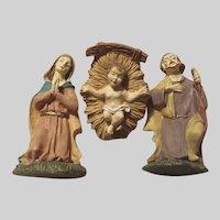 Holy Family St Joseph Virgin Mary Infant Jesus Nativity Small Figurines