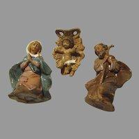 Tiny Set Holy Family Joseph Virgin Mary Infant Jesus Nativity Figures