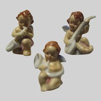 Set 3 Angels  Musicians Singers Christmas Religious Wings Figurines