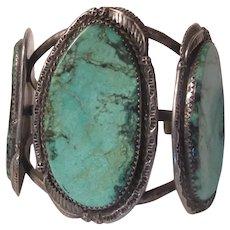 Native American Turquoise Slabs Bracelet