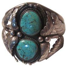 Native American Silver Turquoise Fine Bracelet