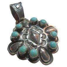 Sterling Silver Pendant Native American