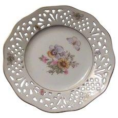 Schumann Western  Germany Plate Dish  Flowers Butterfly