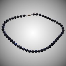 Lapis Gemstone Round Beads Necklace