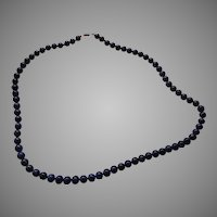 Lapis Round Gemstone Beads Necklace