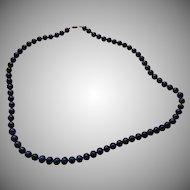 Lapis Round Gemstone Beads Necklace