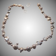 Artisan Cultured White Pearls Large Unusual Shapes
