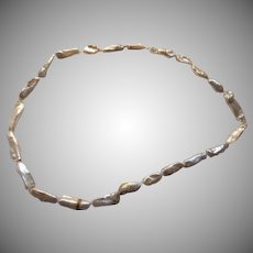 Unusual White Cultured Pearls Artisan Necklace