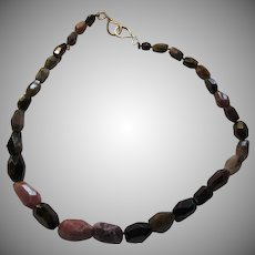 Tourmaline Large Gemstone Rock Beads Necklace