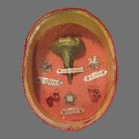 Rare Nuns Catholic Reliquary  Saint Claire Colleta & Agnus Dei Fine Sacramental For Religious Devotion