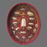 Rare Nuns Catholic Reliquary  Saints St Therese & Others Fine French Religious Sacramental