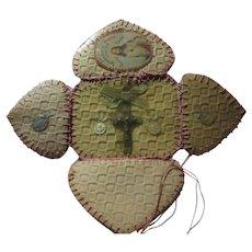 Folding Pocket Prayer Case Medals Saints and  Sacred Heart